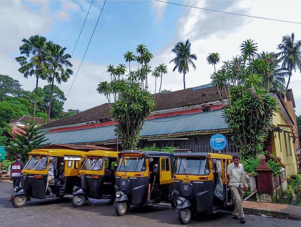 rickshaw stand in Goa