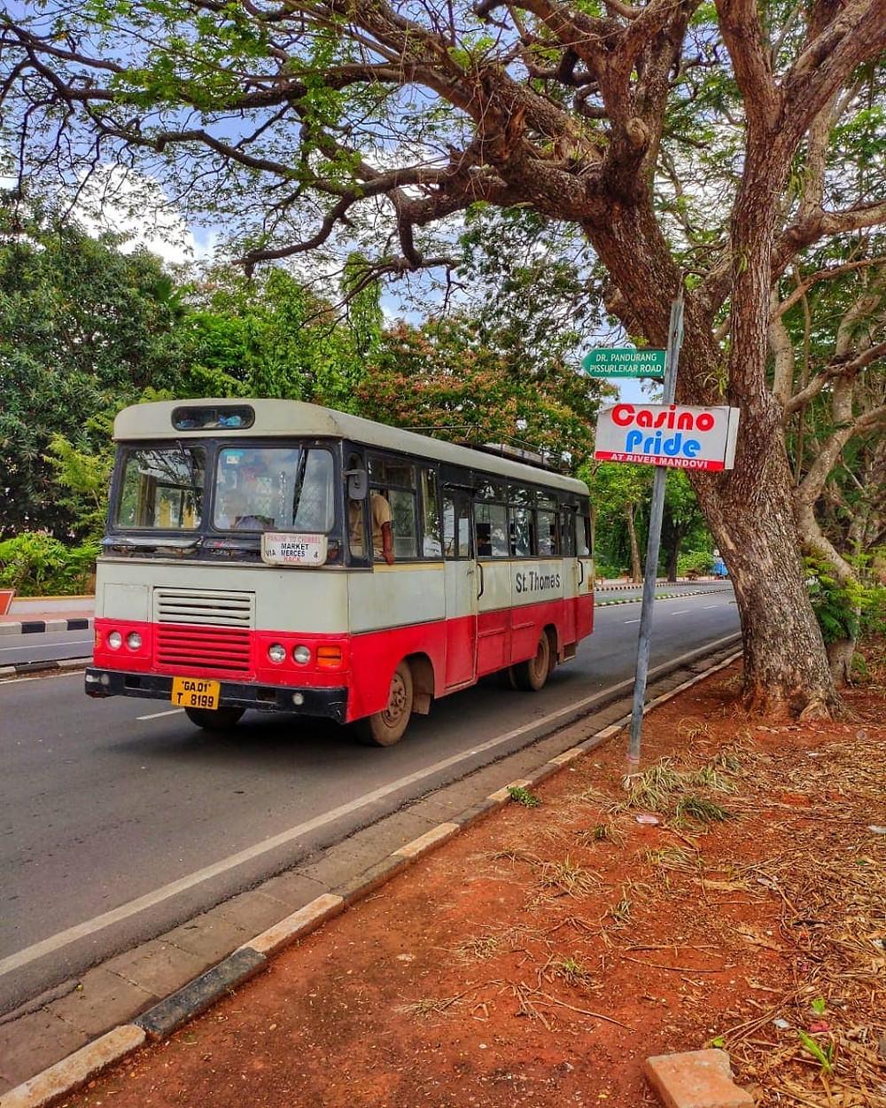 public bus in Goa