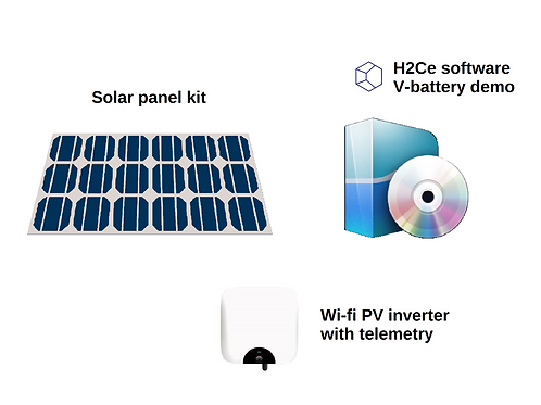 Smart solar panel kit 20 kWh / day