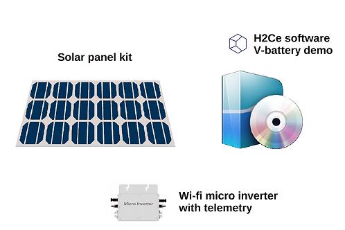 Smart solar panel kit 5 kWh / day