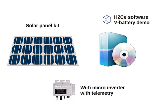 Smart solar panel kit 1.5 kWh / day