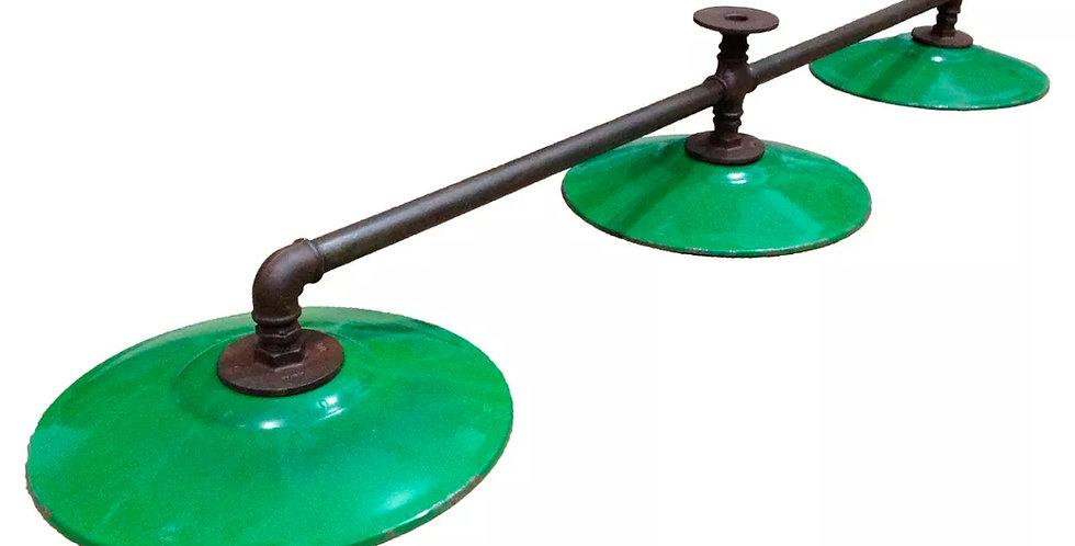 Luminária Vintage Industrial (pratos Esmaltado / Agata)