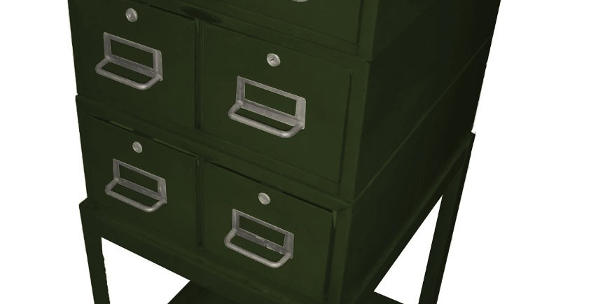 Arquivo Em Aço (estilo Vintage Industrial)