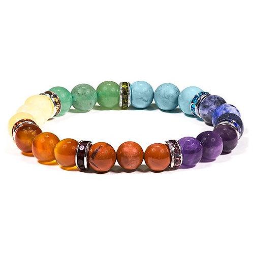 DL17675 Bracelet élastique 7 chakra