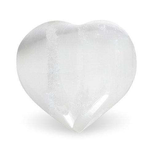 DL1818 Pierres de souci coeurs de sélénite blanc
