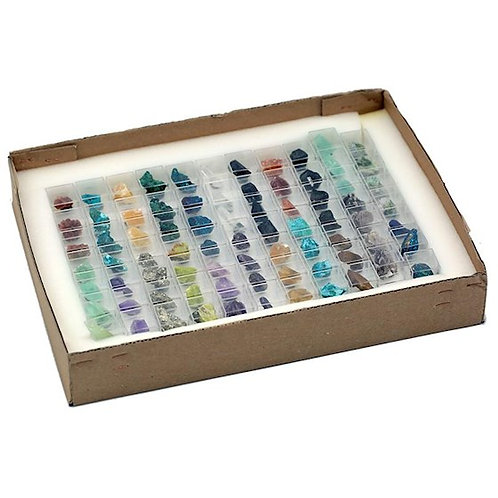 DL9006 Mix de minéraux brut en boite expo.