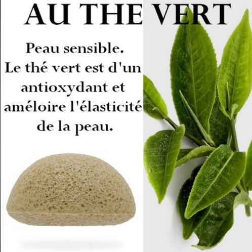 LCEponge KONJAC au Thé Vert