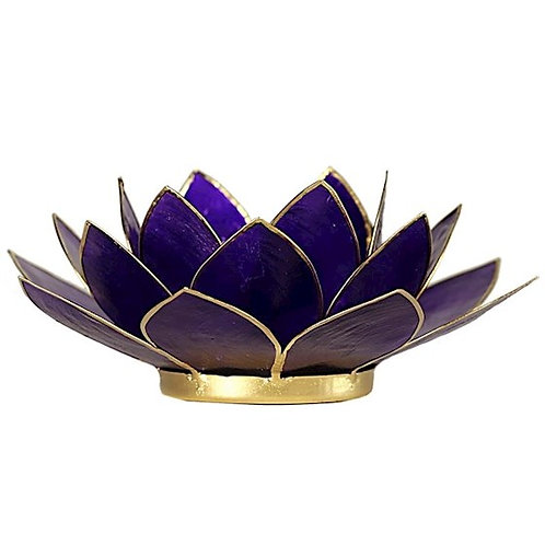 DL12017 Eclairage Lotus 7° Chakra violet & or