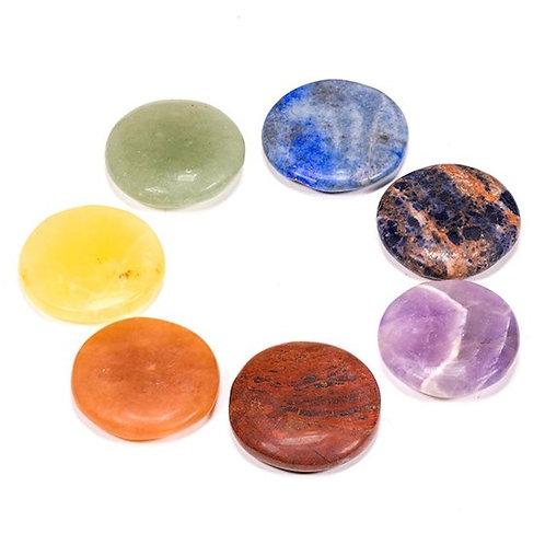DL16572 Chakra Lot 7 pierres rondes