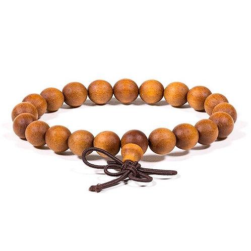 DL12179 Mala / bracelet bois de santal - élastique