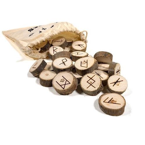 DL13255 Jeux d'Oracle des Runes dans un sac en coton