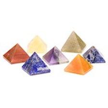 DL16575 Chakra Lot de 7 pierres pyramidales