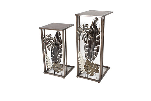 LCMM01216 - ENSEMBLE 2 SELLETTES DECOR TROPICAL