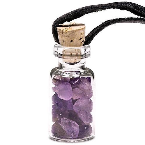 DL6182 Fioles cadeau en verre cordon de cire améthystes