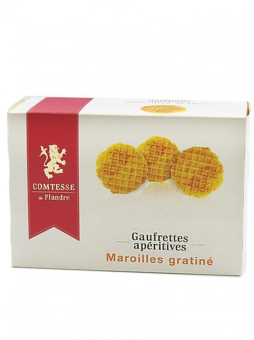 Gaufrettes apéritives - Maroilles gratiné