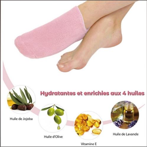 LCChaussettes SPA Hydratantes Rose- ZENC10