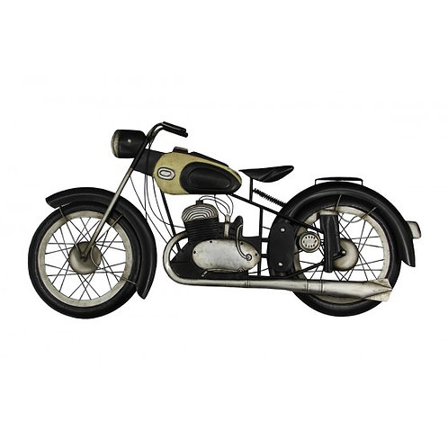 MD4919 - MOTO BLANC/NOIR DECO MURALE METAL