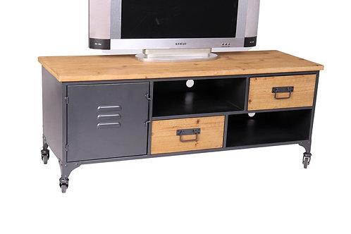 LCMM01250 - MEUBLE TV 1 PORTE 2 TIROIRS