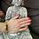 Thumbnail: DL12601 Bracelet Oeil de tigre / Quartz rutile avec éléphant