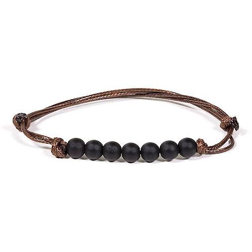 DL13113 Bracelet Obsidienne