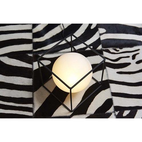 LAMPE CUBE 3D SPHERE VERRE