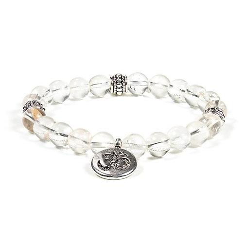 DL12222 Mala / bracelet cristal de roche élastique om