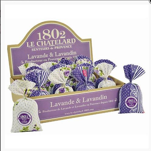 LCSachets de Lavande et Lavandin présentoir en carton