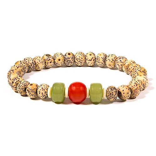 DL12177 Bracelet graines de lotus - élastique