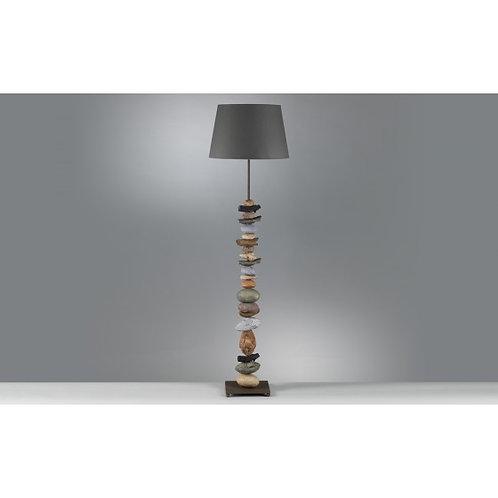 LAMPADAIRE NATURE PIERRE/BOIS