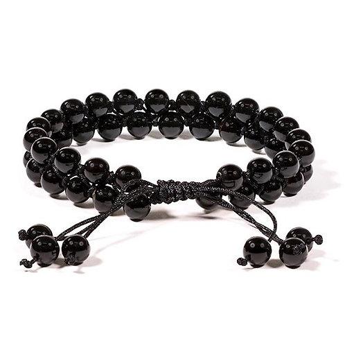 DL13108 Bracelet Agate noire