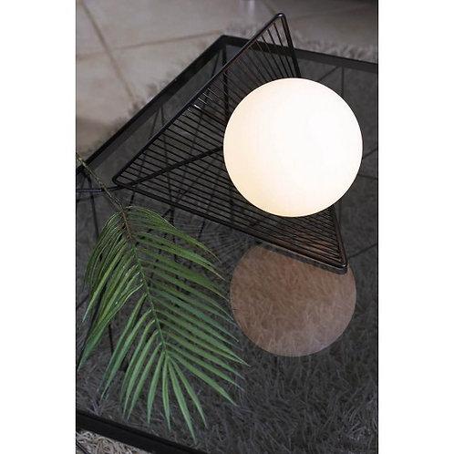 LAMPE METAL EFFET D'OPTIQUE/SPHERE VERRE