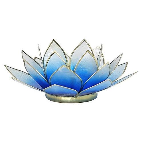 DL12001Eclairage d'ambiance Lotus bleu/blanc-dorés