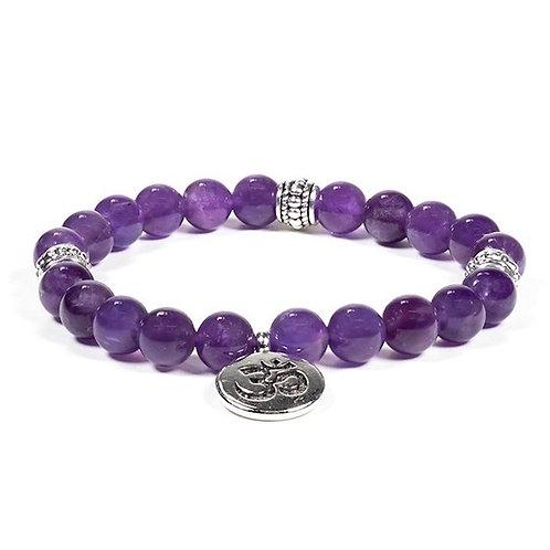 DL12225 Mala / bracelet améthyste élastique om