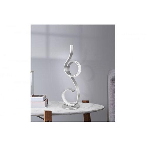 LAMPE 1 BOUCLE GRIS METAL