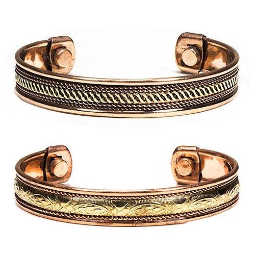DL17681 Bracelet cuivre magnétique - 2 pièces