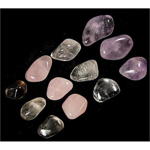 DL6166 Triangle dór pierres polies qualité AA + quartz fumé