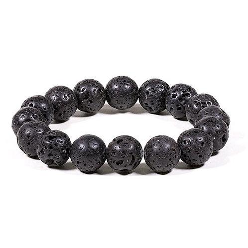 DL13105 Bracelet pierre de Lave élastique