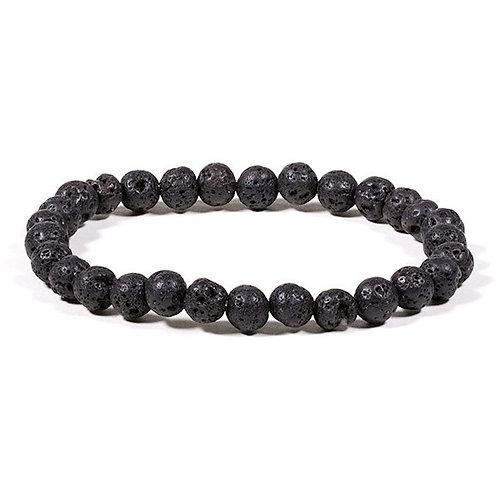 DL13104 Bracelet en pierre de lave élastique
