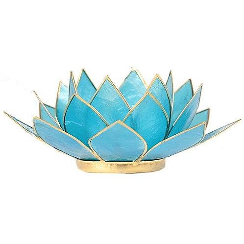 DL12015Eclairage Lotus 5° Chakra bleu & or