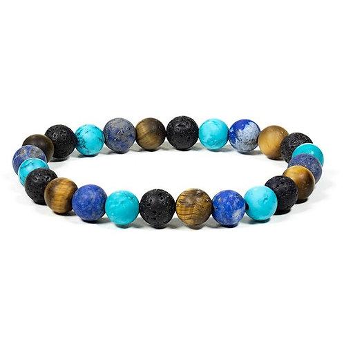 DL12611 Bracelet multi pierre