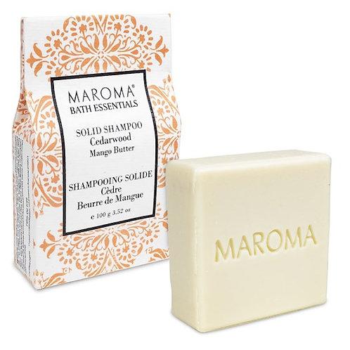 13158 Maroma Barre de shampoing solide Bois de Cèdre