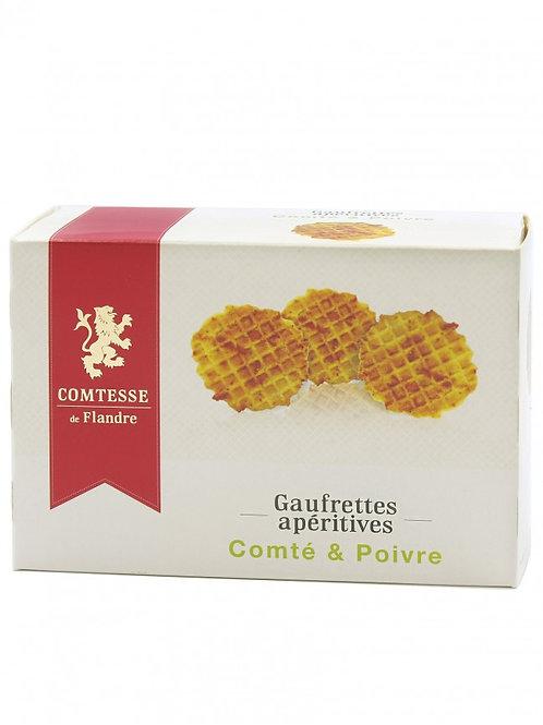 Gaufrettes apéritives - Comté & Poivre