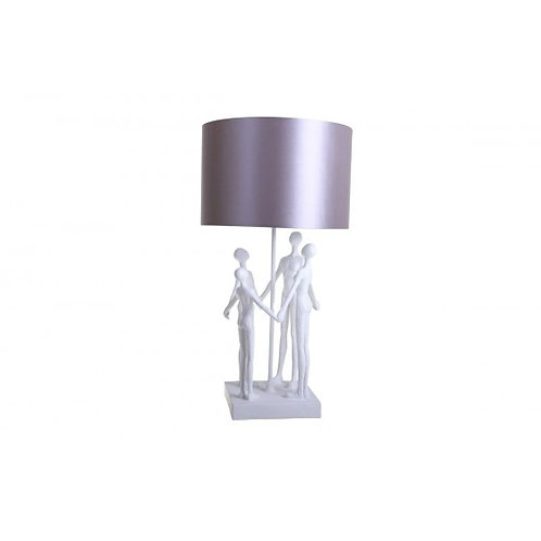 LAMPE STYLISEE FAMILLE BLANC/GRIS