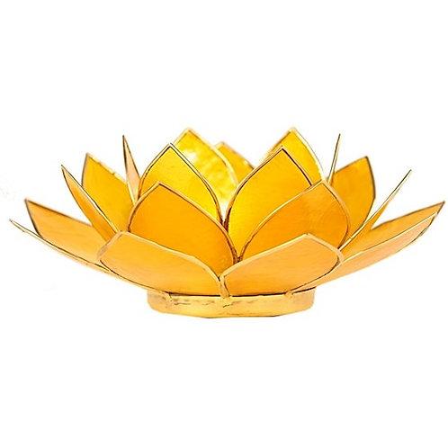 DL12013Eclairage ambiance Lotus 3° Chakra jaune & or