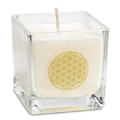 Bougie parfumée à la cire de colza - Fleur de vie