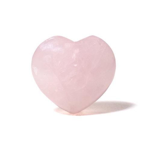 DL13266 Pierre de souci coeur Quartz rose