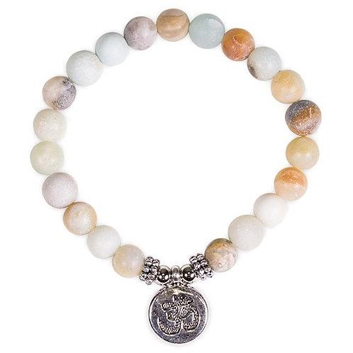 DL13112 Mala/Bracelet en Amazonite élastique OM
