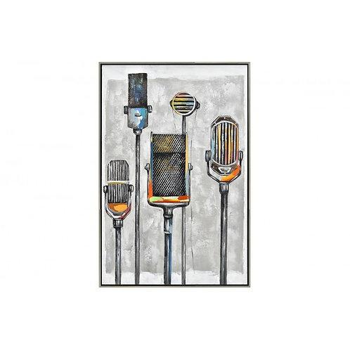 TA5565 - MICROPHONES VINTAGE CADRE ARGENT 90*60