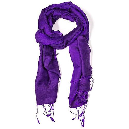 DL18008 Écharpe violet cyclamen
