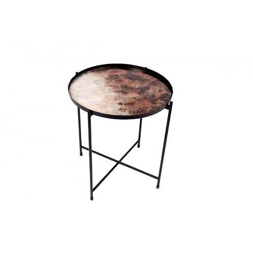 TABLE METAL DECOR ABSTRAIT COL. AMBRE/NACRE